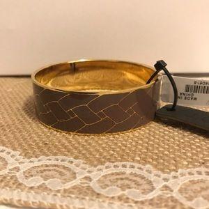 J.Crew Purple and Gold Enamel Bangle Bracelet